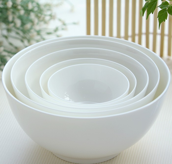 6 inch, plain white bone china bowl, chinese ceramic soup fruit dinner party serving, thermos food container - Real Bone China -- Amanda's Dinnerware Store store