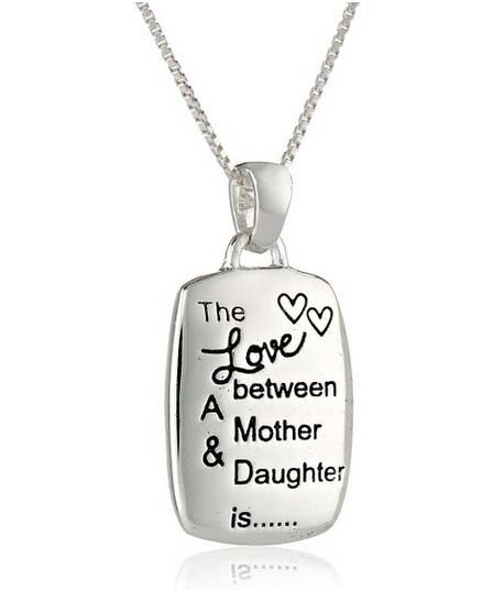 America popular long necklace Mother & Daughter is the mother daughter necklace 2015 new jewelry square pendant necklace(China (Mainland))