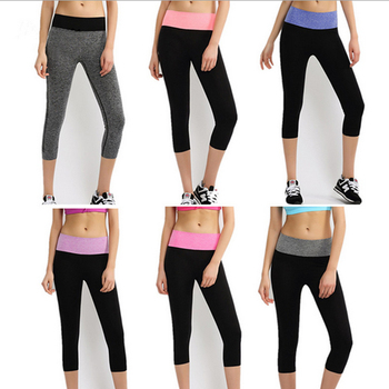 Summer Skinny women Cropped sport pants women fitness Clothing sport leggings Elastic Comfortable sport Trousers womans pants