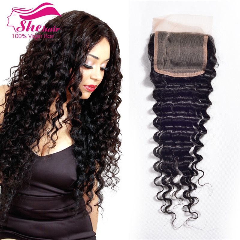 Malaysian Curly Hair With Closure 4pcs/lot Malaysian Deep Wave Lace Cosure Rosa Hair Products Malaysian Virgin Hair with Closure<br><br>Aliexpress