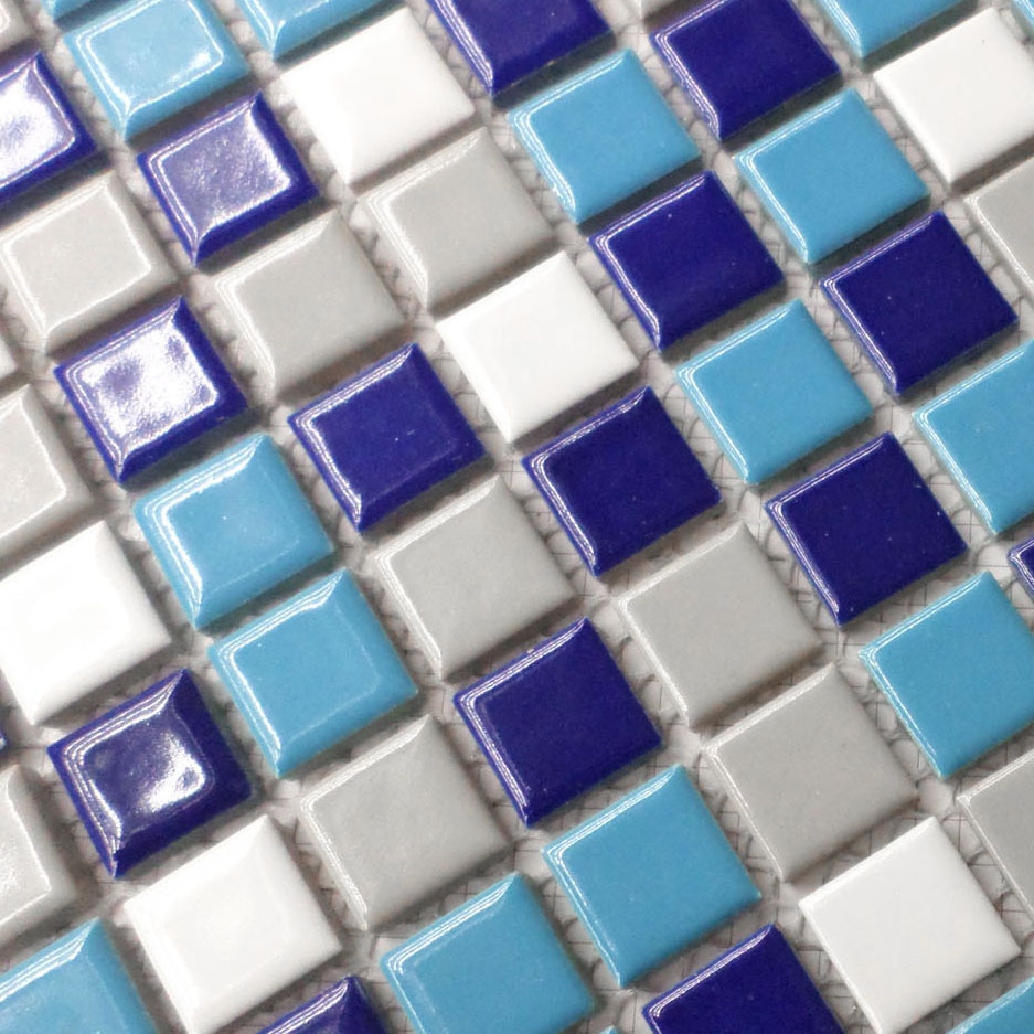white, blue and gray color porcelain tiles HMCM1026 for bathroom shower mosaic kitchen ...