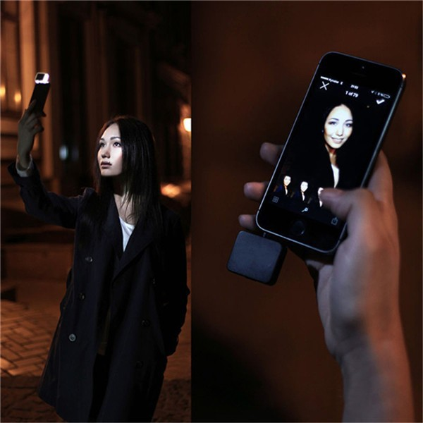 Black Portable 3 Mode Night Using Selfie Enhancing Flash Light for iPhone iPad Samsung HTC LG Sony Huawei Nokia Phones UC433645