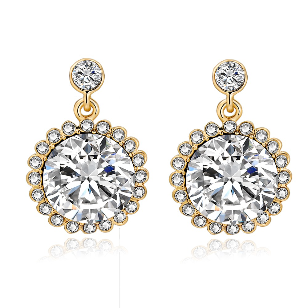 the gallery for gt big fake diamond earrings