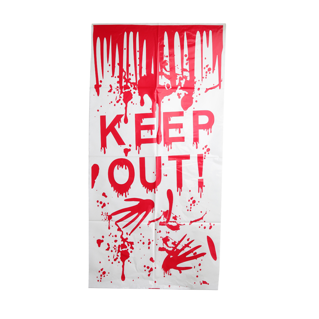 New Hot Bloody KEEP OUT Handprint Window Door Clings Horror Halloween Party Decoration horrifying Halloween Party Accessories(China (Mainland))