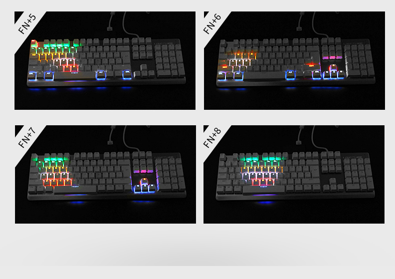 Wrangler 104 keys colorful backlight mechanical keyboard+Macro definition mouse+limited edition Luminous headset 3 in 1 set