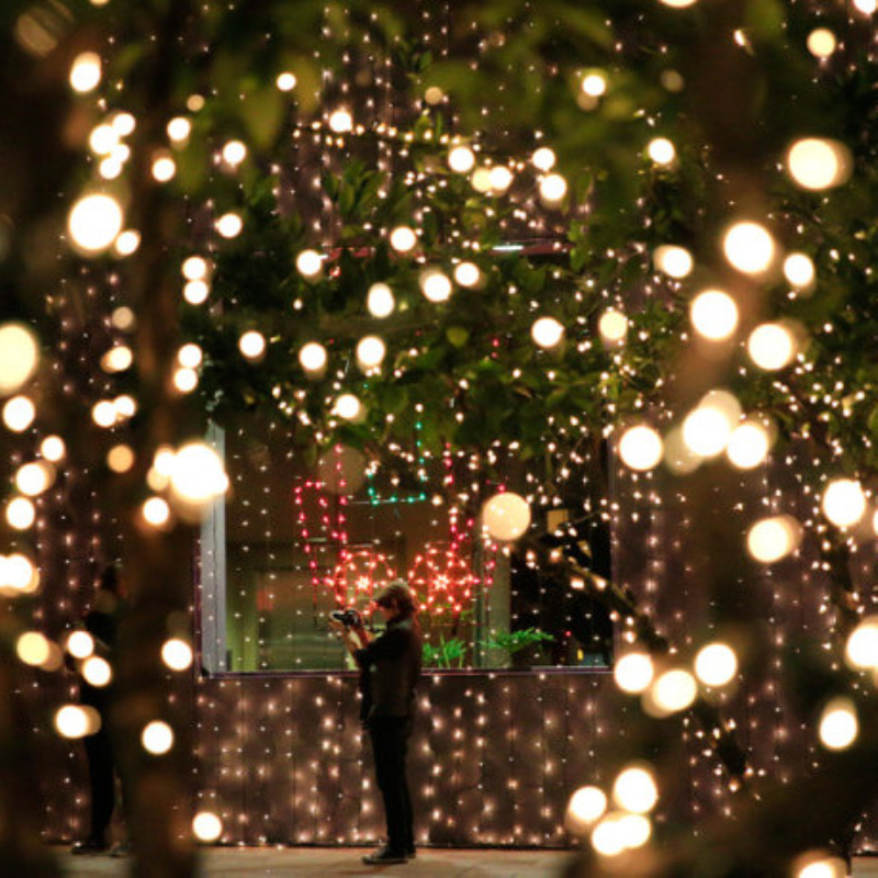 Led String Lights Warm White Outdoor : 12Meters 100 LED Outdoor Warm White Solar Lamps LED String Lights Fairy Holiday Christmas Party ...