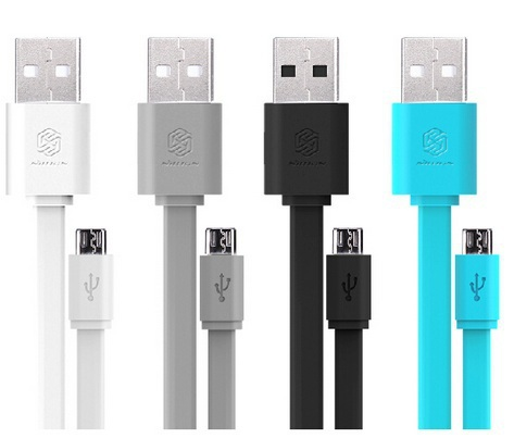 Nillkin Cable Universal Flat Micro USB Data Cable 5V 2A Quick Charge Cable For Samsung Umi Zero Oneplus Lenovo Huawei Phone etc(China (Mainland))