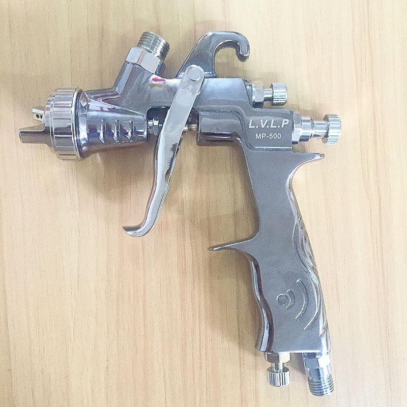 SAT0083 high quality diy silver mirror chrome paint gun nozzle 1.4 lvlp air paint spray gun(China (Mainland))