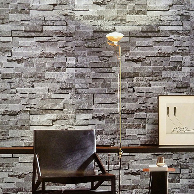 Brick pattern wall background wallpaper grey for living Grey wallpaper living room