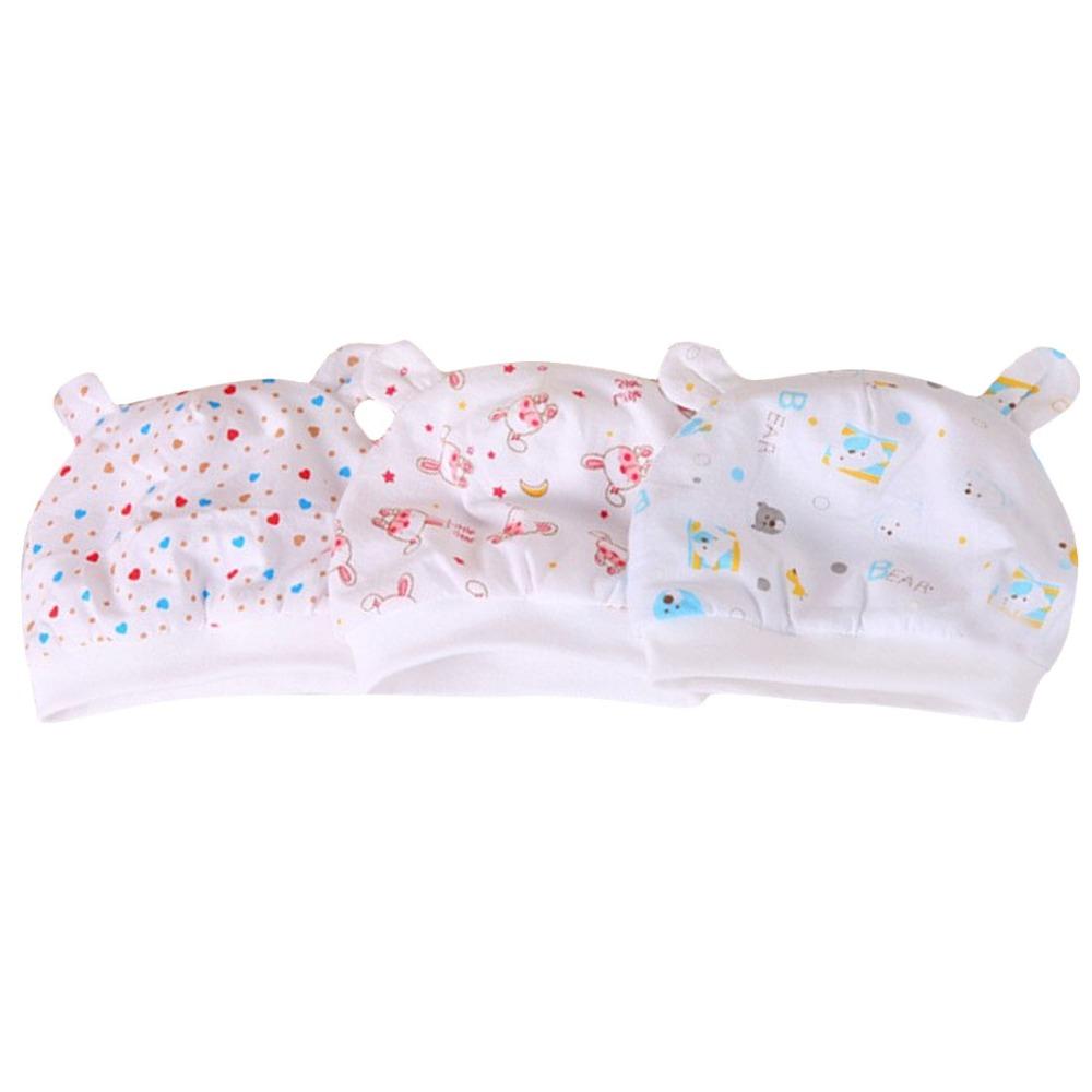 1pc infant boy girl cotton hat new born baby beanies hat & cap cute pink rabbit or bear or love shaped printed Binaural cap(China (Mainland))