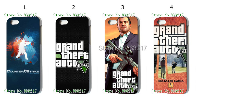4 pcs/lots Game hard Black case cover for iphone 5 5th 5S+free shipping(China (Mainland))