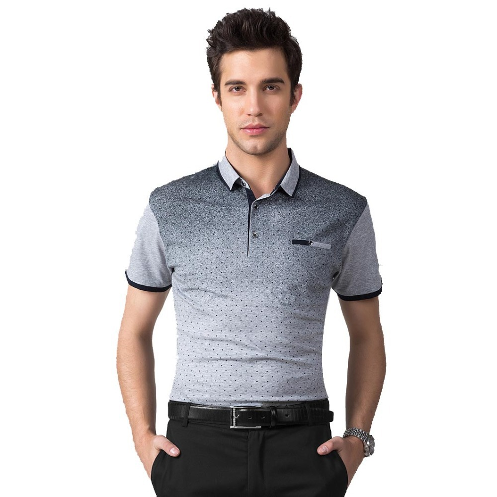2015 new brand short sleeve men polo shirt men cotton for Business casual polo shirt