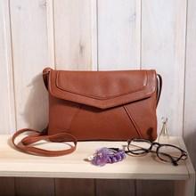 New 2015 Fashion Vintage Women Envelope Bag Leather Messenger bag Handbag Shoulder Crossbody Cross body Bag Purses clutch Bolsas(China (Mainland))