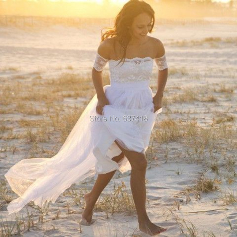 Buy sexy beach bohemian lace wedding for Buy beach wedding dress