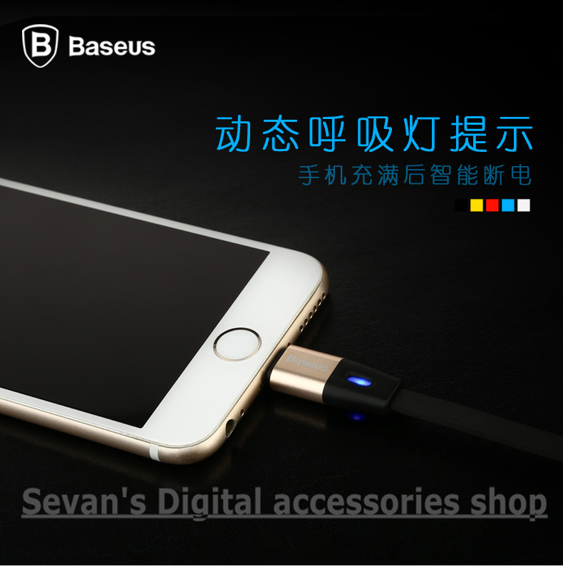 Original BASEUS 100cm Aluminum USB data charging Cable iphone 5s 6 plus touch 5 ipad mini 2 4 air nano ios 7 8 9 - Sevan's Digital accessories shop store