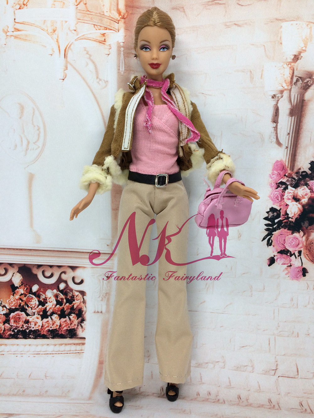 NK  Randomly three Set /Lot Combine Doll Handmade Garments Winter Put on Style Costume Clothes Equipment For  Barbie Doll Greatest Present Toy