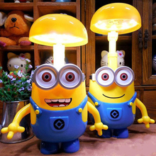 Minions Charging Lamp Learning Lamp Minions Led Night Light Use As Money Box Minions Piggy Bank For Children Gifts(China (Mainland))