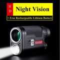 8X32mm Larger Vision HD Professional LED Night Vision Monocular Telescope Military Hunting Device with Lithium Battery