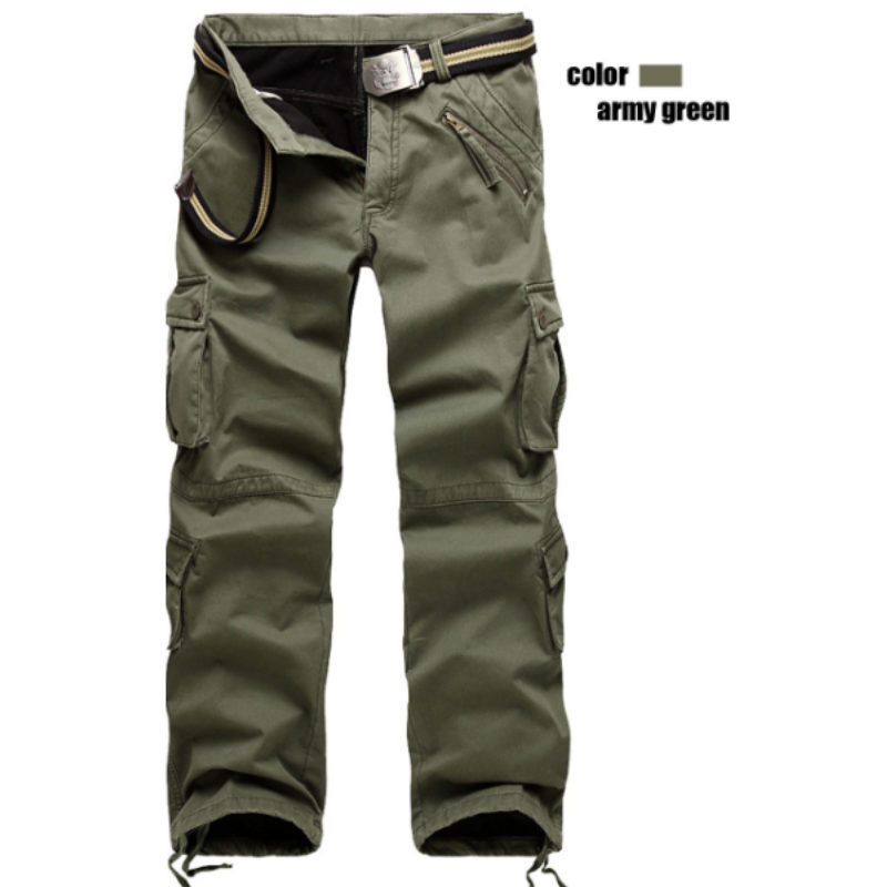 2015 Hot Selling fashion winter thick military army green men cargo pants brand 3 color size 28 ...