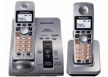 produto KX-TG6051 5.8 GHz Cordless Telephone w/Digital Answering Machine Caller ID Home Wireless Telephone 2 handsets