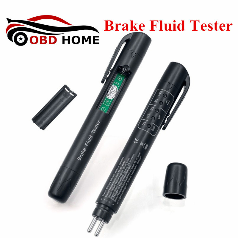 Fast Shipping Hot Sale Brake Fluid Liquid Tester Pen With 5 LED Car Auto Vehicle Tools Diagnostic Tools Brake Fluid Tester
