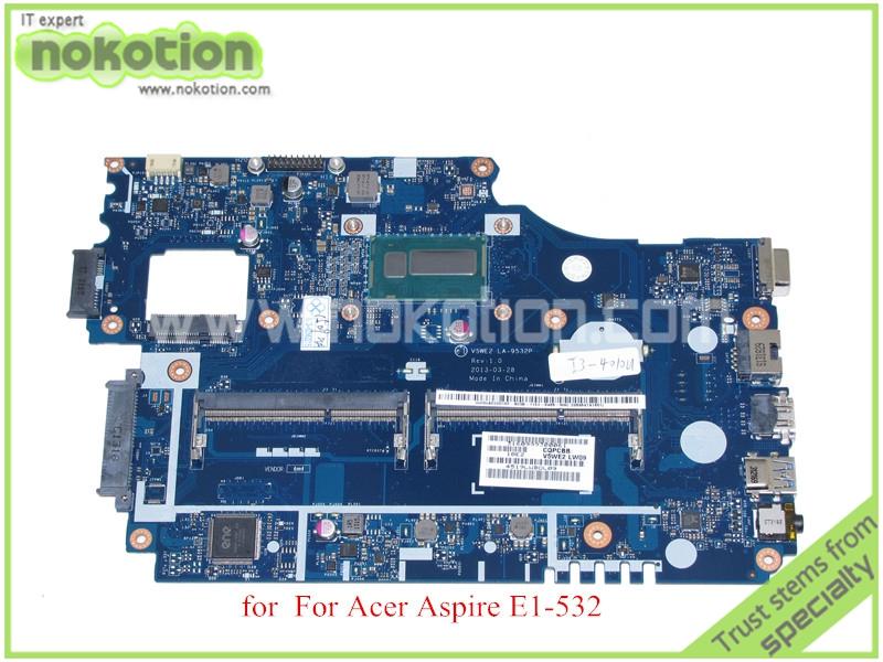 V5WE2 LA-9532P Rev 1.0 for acer aspire E1-532 laptop motherboard i3-4010U CPU  DDR3L<br>