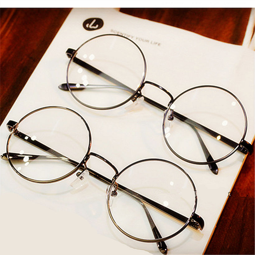 round spectacle glasses frames for harry potter glasses with clear glass women men myopia optical transparent