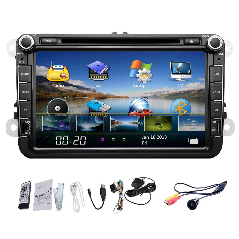 eincar 8 inch car gps navigation dvd cd player radio. Black Bedroom Furniture Sets. Home Design Ideas