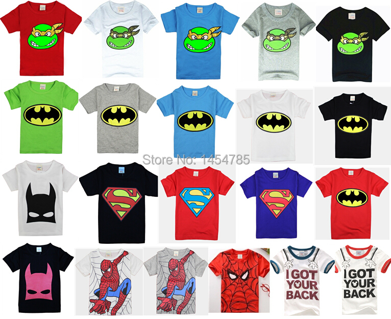 2015 New!children clothes boys girls unisex t shirt multicolor optional cartoon children t-shirts 100% cotton children's t-shirt(China (Mainland))