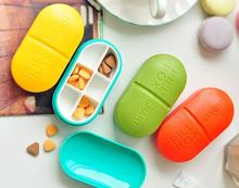 6-Slot Oval portable kit sub-boxing sealed pillbox 100% new gift Capsule mini pill cases PB601(China (Mainland))