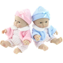 Новый Мини 25 см (10 inch) две Горячие Продажи Реалистичные Возрождается Кукла Реалистичные Куклы Младенца Рождественский Подарок для Девушки Детские Игрушки Juguetes