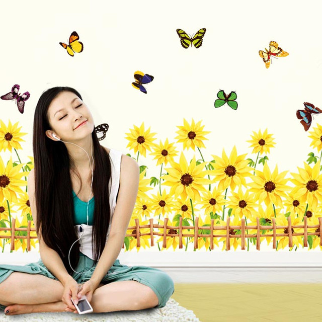 discount home butterfly flying waistline wall stickers