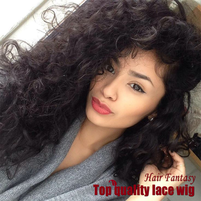 Top Quality Malaysian Hair Kinky Curly Wig Synthetic Lace Front Wigs Black Wigs Heat Resistant Synthetic Hair Wigs Free Shipping