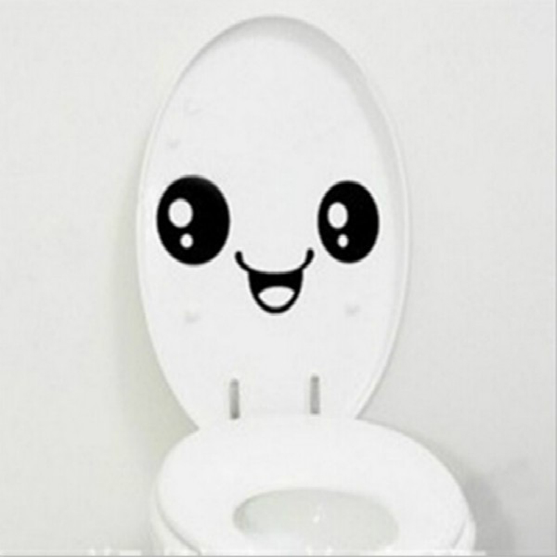 emoji toilet sticker wc pedestal pan cover sticker toilet. Black Bedroom Furniture Sets. Home Design Ideas