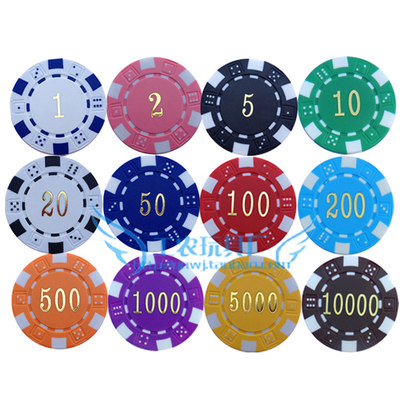 value of poker chips