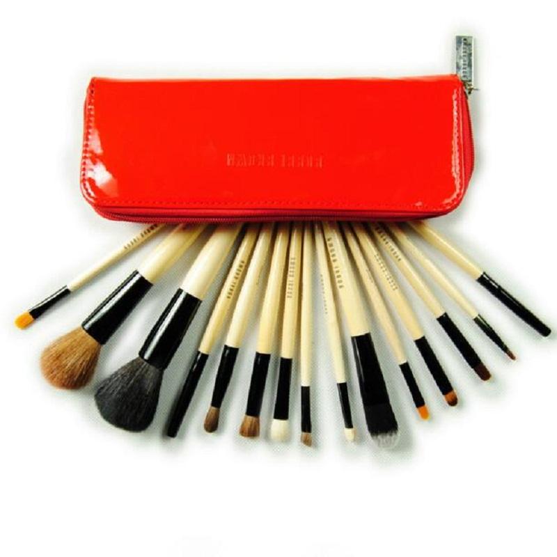 1Goat Hair Makeup Brushes Set Powder Foundation Eyeshadow Eyeliner Lip Brush Tools Kit Leather Case - Neworb international co.,ltd store