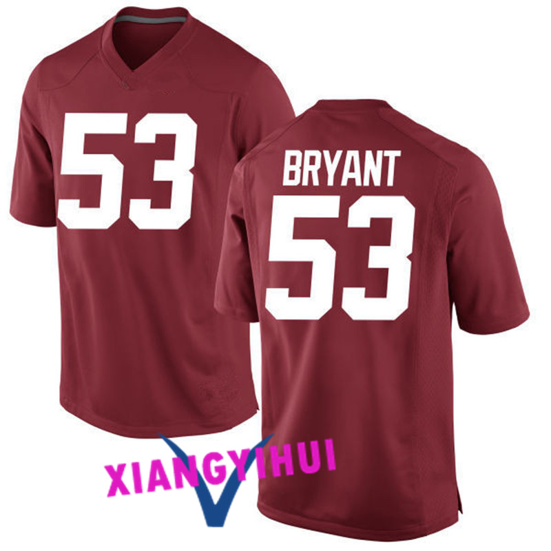 2017 Alabama Bryant #53 Lacy #42 Upshaw #41 College Basketball Jersey -Ang Logo Ang Name Can Customized(China (Mainland))