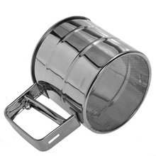 Practical Stainless Steel Flour Sifter Cup Baking Icing Sugar Shaker Strainer Sieve(China (Mainland))