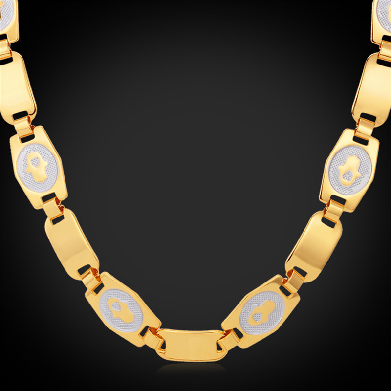 Simple Style Chokers Necklaces For Men/Women Fashion New Jewelry 18K Real Gold Plated High Quality Brand Chains Accessories N902(China (Mainland))
