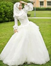 Vestido De Noiva Fashion Elegant Wedding Dresses Beaded Long Sleeve Wedding Dress Lace Wedding Gowns(China (Mainland))