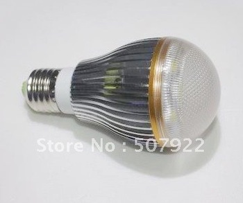 E27 Base 5W LED Globe Bulbs lights with Aluminum Housing and AC80~256v voltage;CCT2700K-6500K and