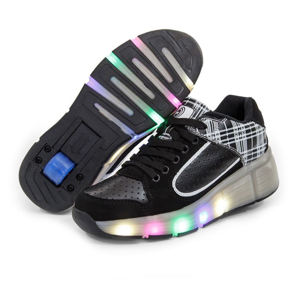 led lights children shoes sneakers with wheels
