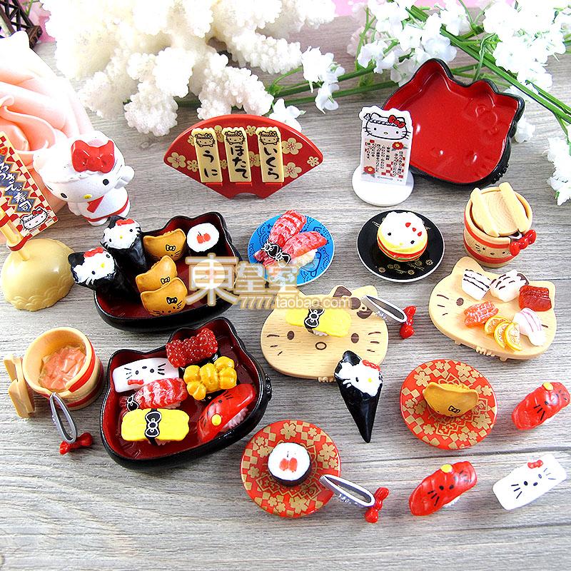Kawaii Japanese Food Dollhouse Artificial Food Mini Resin Sushi Kit Sweets Deco Fake Sushi Set KT Free Shipping(China (Mainland))