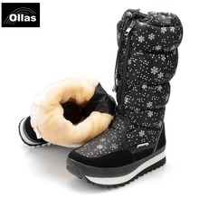 Ollas 2016 boots fashion women winter lovely platform winter warm snow boots waterproof plus size 35-41 shoes woman YS0676-11(China (Mainland))