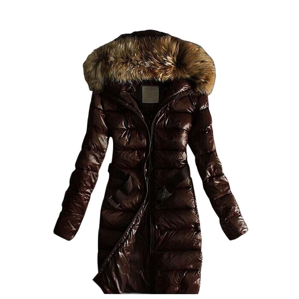 Winter Coat Women 2015 New Fashion Women's Casual Down Cotton Jacket Coats High Quality Outdoor Fur Collar Warm Long Parka()
