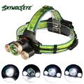 SKYWOLFEYE XM L T6 XPE LED Headlamp Headlight 1000 Lumen Zoomable Rechargeable Head Light Lamp Torch