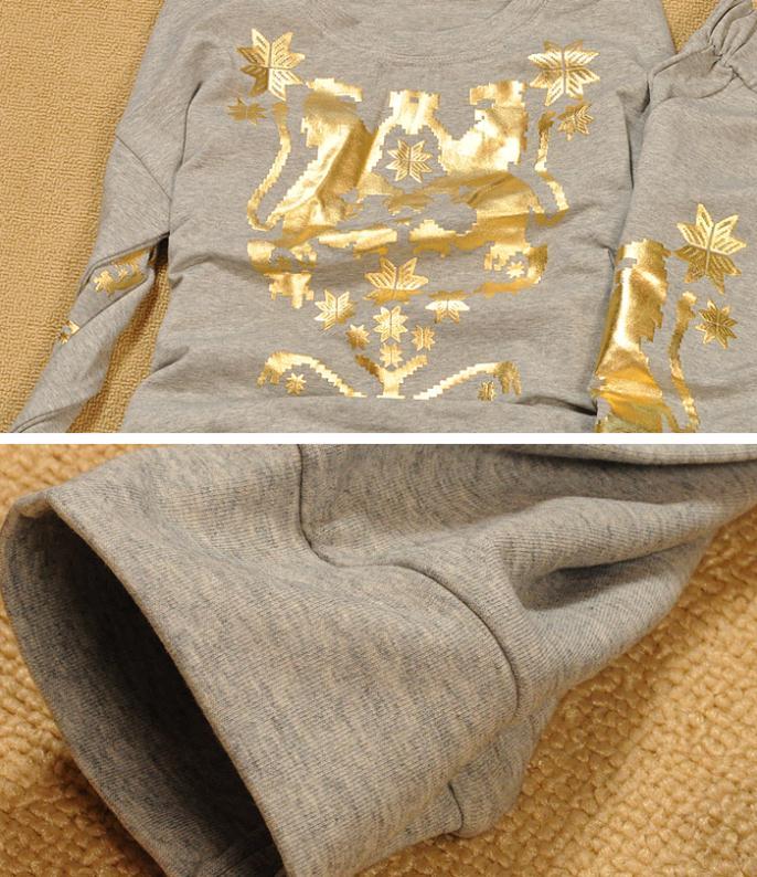 Осень хлопок костюм печать спортивная одежда женщины весна осень европейский марка женщины костюм