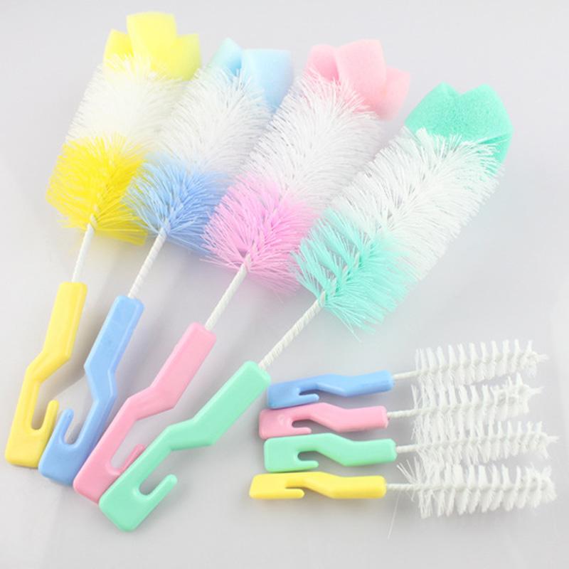 1pc Baby Bottle Brush Cup Cleaning Brush Plastic Bottles For Brushes -- BYA017 PT10