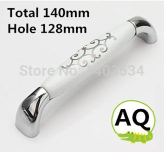4pcs 128mm Zinc alloy ceramic handle cabinet handle drawer handle Silver color<br><br>Aliexpress