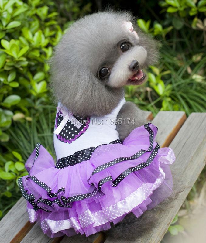 Cat Dog Pet Tutu vestido de princesa roupas para cães coração Bowknot saia de verão vestidos para cães 20